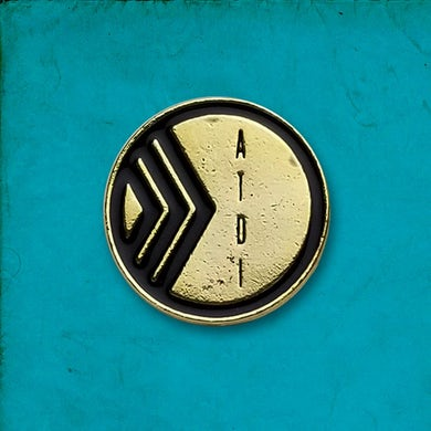 At The Drive-In Gold Name Enamel Pin