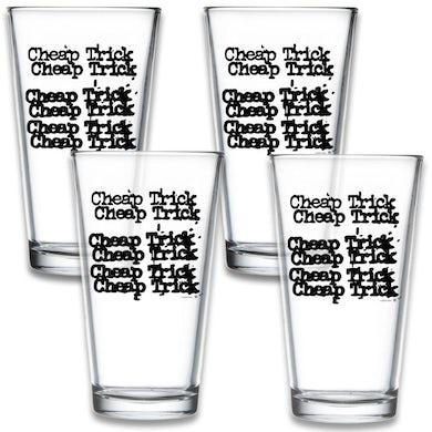 Cheap Trick 4 Pack Logo Pint Glass Set