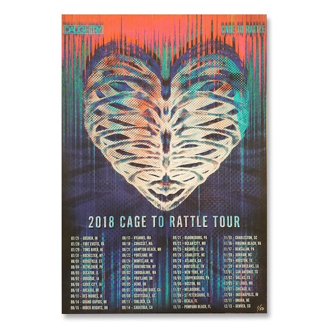 Daughtry Cage To Rattle 2018 Tour Poster