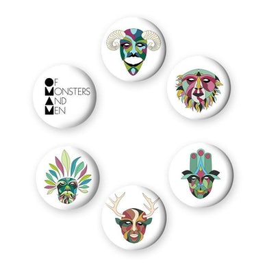 Of Monsters and Men OMAM Button Set