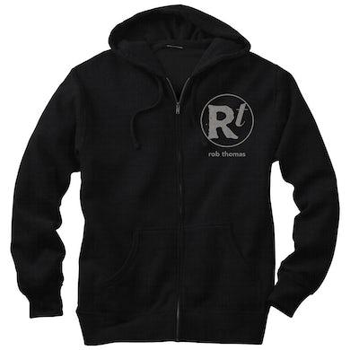 Rob Thomas Black RT Logo Zip Hoodie