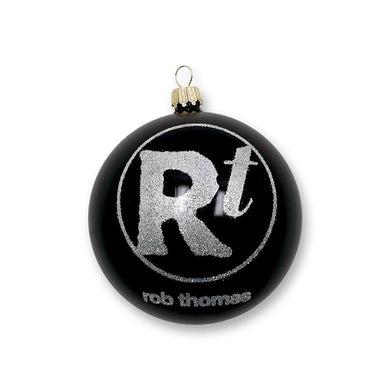 Rob Thomas Black Glitter Logo Ornament