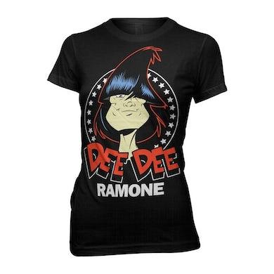 Dee Dee Ramone Toon Headshot Girls T-shirt