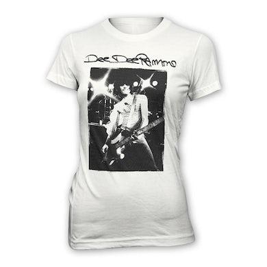Dee Dee Ramone Vintage Photo Girls T-shirt