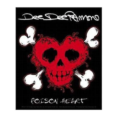 Dee Dee Ramone Poison Heart Sticker