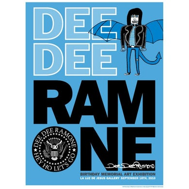 Dee Dee Ramone Blue Dragon Silkscreen Poster