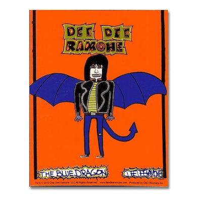 Dee Dee Ramone Blue Dragon Sticker