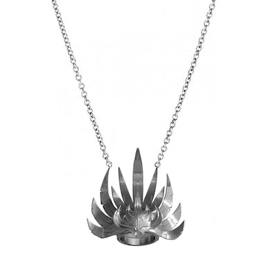 Empire Of The Sun Silver Crown Necklace