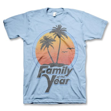 Family Of The Year By The Beach T-Shirt (Blue)