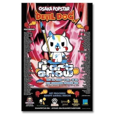Osaka Popstar Signed Art Show Poster