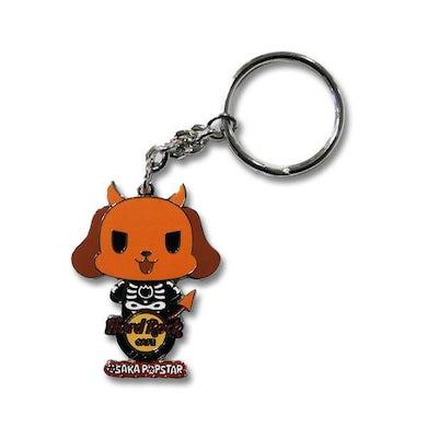 Osaka Popstar Skeleton Devil Dog Hard Rock Keychain