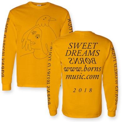 BØRNS Abstract Crow Long Sleeve T-Shirt