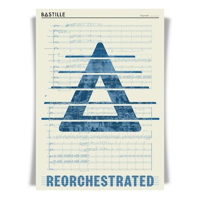 Bastille ReOrchestrated 'Warmth' score lithograph