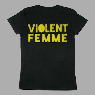 Violent Femmes VIOLENT FEMME LOGO LADIES BLACK TEE