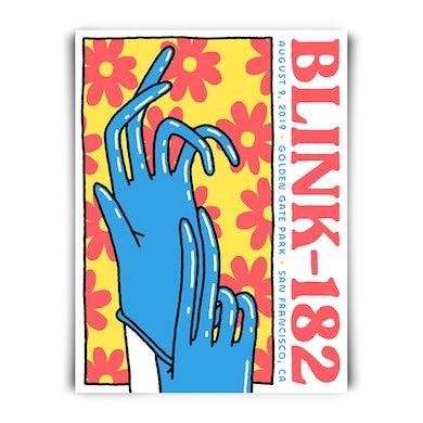 blink 182 SAN FRANCISCO 2019 TOUR  POSTER