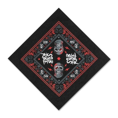 SOB X RBE BANDANA - BLACK/RED