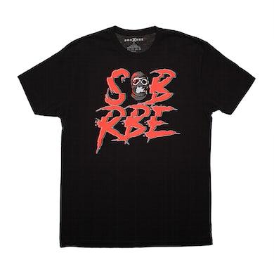 SOB X RBE GLITCH LOGO TEE - BLACK