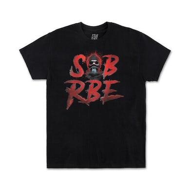 SOB X RBE 3D SKI MASK LOGO TEE - BLACK