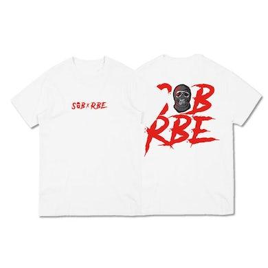 SOB X RBE RED LOGO TEE - WHITE