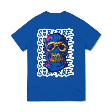 SOB X RBE BALACLAVA FACE TEE - BLUE