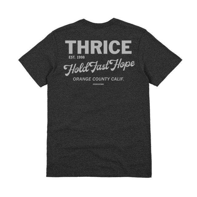 """Thrice """"Hold Fast Hope"""" Black heather Tee"""
