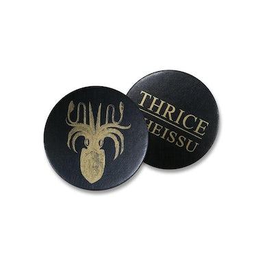 "Thrice ""Vhiessu Squid"" Leather Coaster SET"