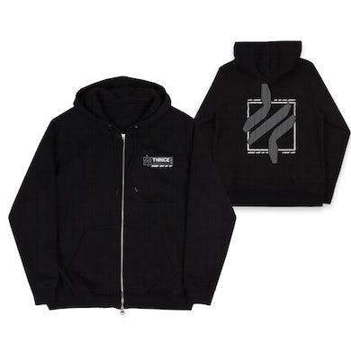 Thrice Bars Black Zip Hoodie