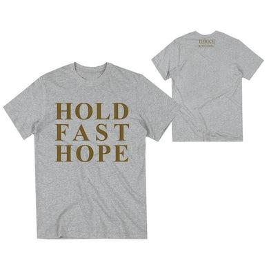 Thrice Hold Fast Hope Heather Grey Tee