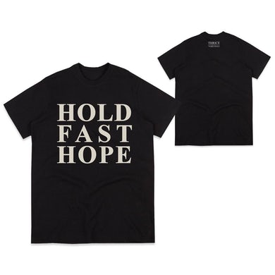 Thrice Hold Fast Hope Tour Edition Black Tee