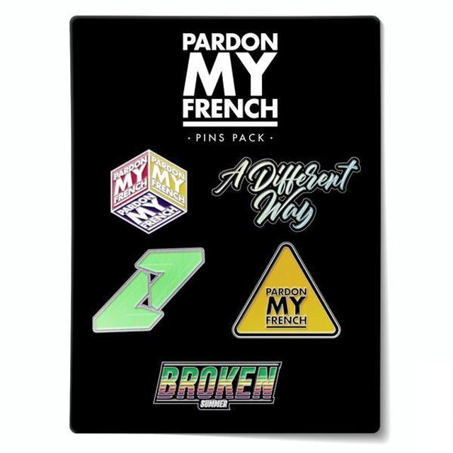 DJ Snake PMF PIN'S PACK (OPTION : PIN'S PACK 2)