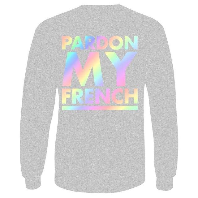 DJ Snake PARDON MY FRENCH GREY RAINBOW LONG SLEEVES TSHIRT