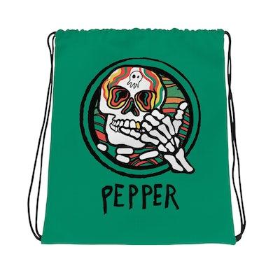 """Pepper """"Hang Loose Skeleton"""" Drawstring Bag"""