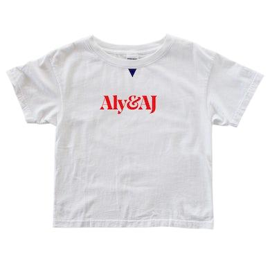 Aly & AJ 'Red Logo' White tee