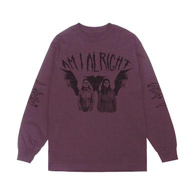 Am I Alright Long Sleeve Purple Shirt