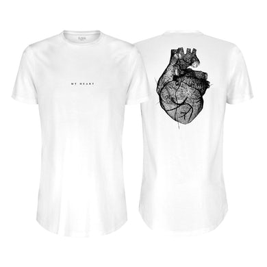 Nic Fanciulli White Longline w/ large My Heart graphic