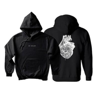 Nic Fanciulli Black Hoodie w/ large My Heart graphic