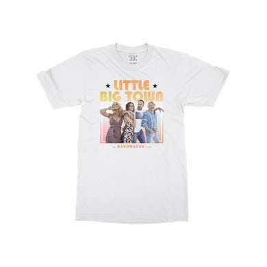 Little Big Town Bandwagon Tour White Dateback T-shirt