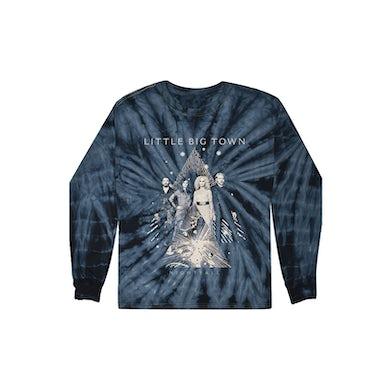 Little Big Town Nightfall Tie-Dye Dateback Longsleeve T-shirt