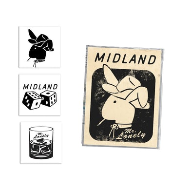 Midland Mr. Lonely Temporary Tattoo Set