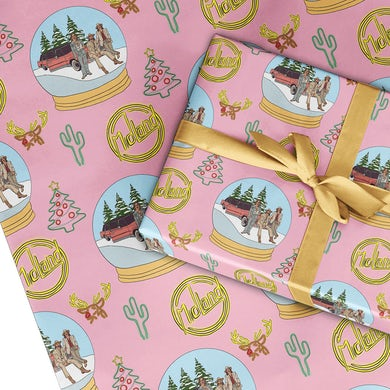 Midland Neon Snowglobe Wrapping Paper