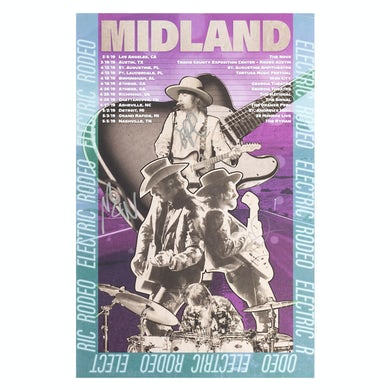 Midland Electric Rodeo Tour Lithograph