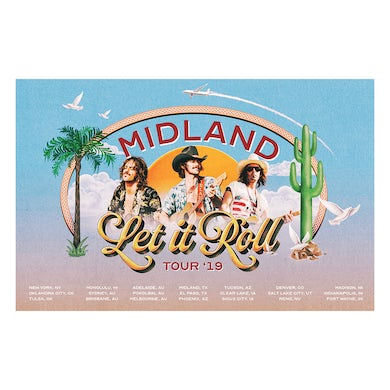 Midland Let It Roll 2019 Tour Lithograph