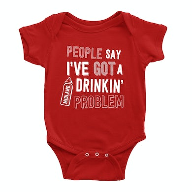 Midland Drinkin Problem Red Onesie