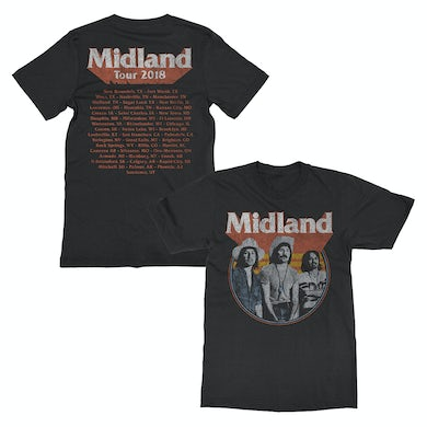 Midland Distressed Photo Dateback T-shirt