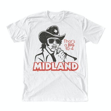 Midland Big 10-4 White T-shirt