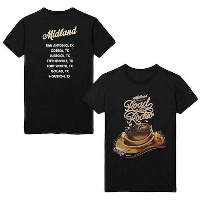 Midland Road to the Rodeo Dateback T-shirt