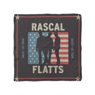 Rascal Flatts American Flag Silhouette Bandana
