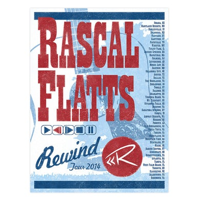 Rascal Flatts 2014 Rewind Tour Poster