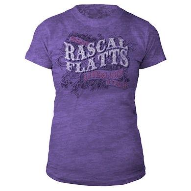Rascal Flatts Live & Loud Purple Juniors T-Shirt
