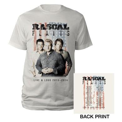 Rascal Flatts Live & Loud Natrual Flag T-Shirt